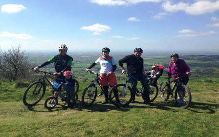 Cycling at Sutton Bank