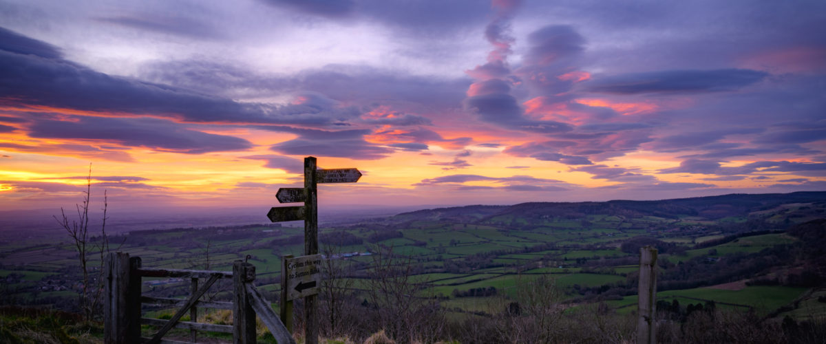 Taking in James Herriot's favourite view from Sutton Bank during sunset