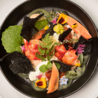 Dine on lobster and squid ink crackers at The Star Inn