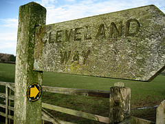 Carlton Lodge Cleveland Way Sign Walking